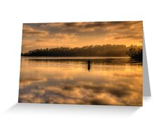 Anglers Dawn (Landscape) - Narrabeen Lakes - The HDR Experience Greeting Card