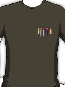 8Bit Nerd Pocket Pixels - 4 light shirt T-Shirt