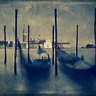 Bobbing gondolas, Venice by James Rowland