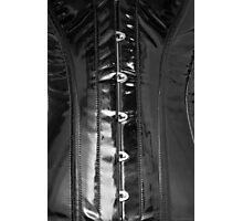 Shiny PVC corset... Photographic Print