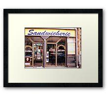 Paris sandwich shop Framed Print