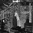 The City That Never Sleeps B & W by Iain Mavin