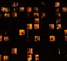 Windows Overlooking The Hudson River, NYC by RonnieGinnever