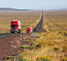 Central Oregon Highway by Julia Washburn