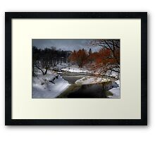 A River Runs Through It - HDR  Framed Print