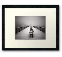 The Winter Pier Framed Print