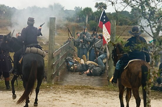 Bridge fight by Larry  Grayam