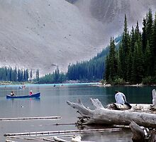 Canoeing-Moraine Lake  by Jann Ashworth