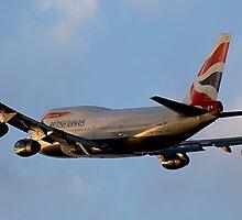 British Airways 747 Departure by gfydad