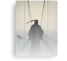 Grim Reaper This Way Comes Canvas Print