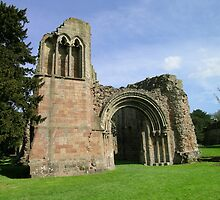 The great Lilleshall Abbey Entrance..Angled view by Lawson Clout
