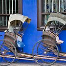 Rickshaws - Penang by Naomi Brooks