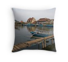 Riverside - Padang, Sumatra Throw Pillow