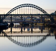 Five bridges across the Tyne by Catherine Dipper