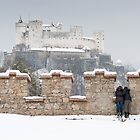 Festung Hohensalzburg in Winter by Chris Tarling