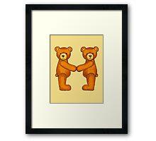 Teddy Bear Alphabet ~ Letter M ~ Initial Framed Print