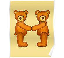 Teddy Bear Alphabet ~ Letter M ~ Initial Poster