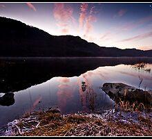 Frosty dawn over Derwent water by Shaun Whiteman