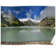 Beautiful mountain lake Poster