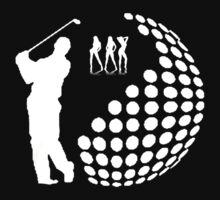 the golfer,white silhouette  by ralphyboy