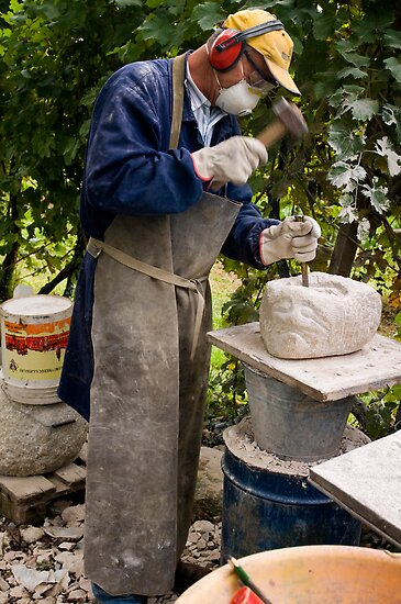Stone Sculptor, Valdobbiadene, Italy by Andrew Jones