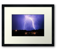 Behind The Neighbors II Framed Print