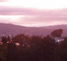 Sunrise Over the Columbia River #9 by Dawna Morton