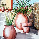 Pot and Bougainvillea by kandyce