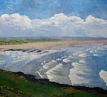 Saunton Sands, North Devon by Marie Edlin