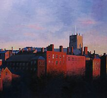 The Lace Market in Red Light, Nottingham by Marie Edlin