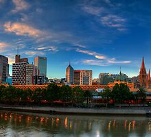 Sundown from Southbank by Allan Savage