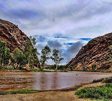 Todd river in flood by Ausgirl60