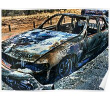 Burnt out car Poster
