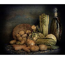 Still Life Vegetables  Photographic Print