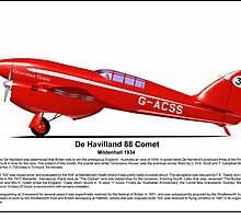 De Havilland Comet Racer by coldwarwarrior