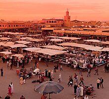 Jemaa el-Fna Square Marrakesh by Kerry Dunstone