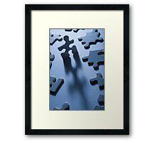 Jigsaw Man Framed Print