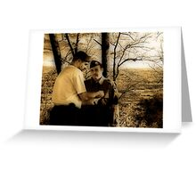 Joining The Band Of Brothers Greeting Card