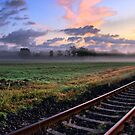 Railroad Tracks in the Morning  by Edward Myers