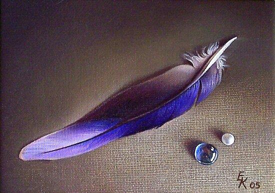 Still life with the feather #2 by Elena Kolotusha