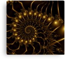 Golden Wire Spirals Canvas Print