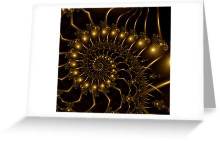 Golden Wire Spirals by plunder