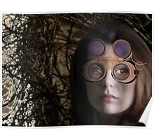 eye as a lens - steampunk variations - beyond the stone tower Poster