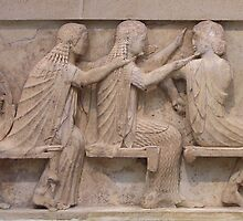 East Frieze, Treasury of Siphnos, Delphi by Christopher Biggs