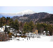 Mirror Lake Inn, Village of Lake Placid NY Photographic Print