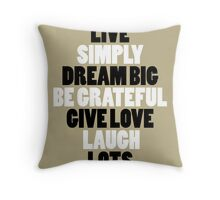 LIVE SIMPLY Throw Pillow