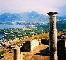 Solunto. Temple Columns. Sicily, Italy 2005 by Igor Pozdnyakov