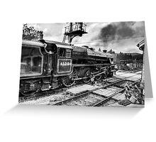 No.45212 Leaving Levisham Station Greeting Card