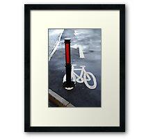 Oops Bike Lane!! Framed Print