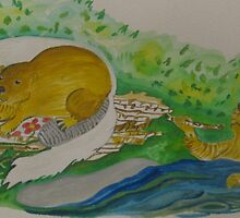 The continuing series of king cat and beavers by Nora Fraser